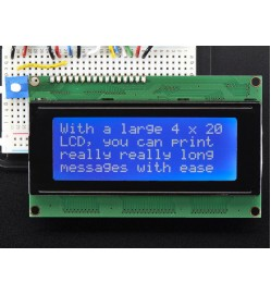 20 x 4 LCD Character Display with Blue Backlight
