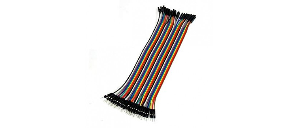 2.54mm Pitch 40 Pin 40 Way M/F Connector Rainbow Ribbon Jumper Cable Wires 20cm