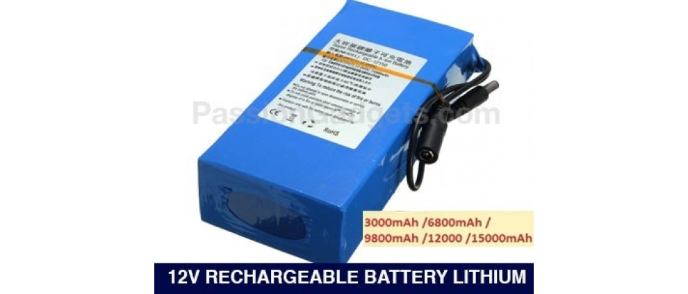 12V Battery Lithium Rechargeable For Deck LED Lights