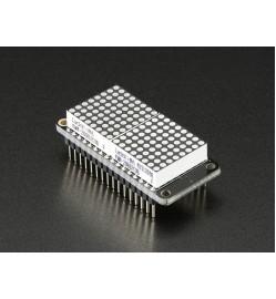 """Adafruit 0.8"""" 8x16 LED Matrix FeatherWing Display Kit - Yellow"""