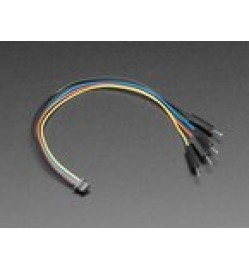 STEMMA QT / Qwiic JST SH 4-pin to Premium Male Headers Cable - 150mm Long