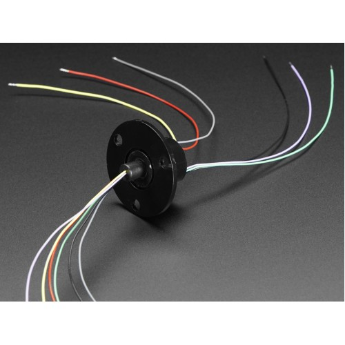 Adafruit Slip Ring with Flange - 22mm diameter, 6 wires, max 240V @ 2A PRODUCT ID: 736