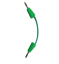 4 mm Stack-able Banana Plug Jumper Wire Green color - 10 cm
