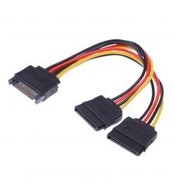 2 Sata (Female) to 15 pin (male) Sata Power Splitter Y Cable