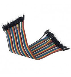 40 Way M/M Rainbow Ribbon Jumper Cable Wires - 10cm