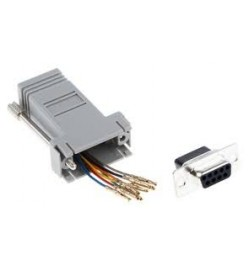 RJ45 Female to D-sub, 9-Pin Female Network Adapter