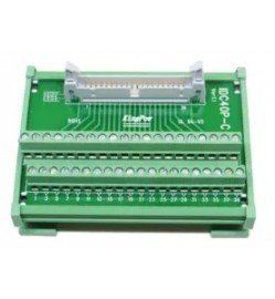 Terminal Block Interface, IDC 40 Position Plug, Screw Type 40 Position Terminal Block, 1 A, 250 V