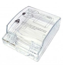 Schneider 1-Gang Weatherproof Transparent Socket Cover (E223R_TR) with Pad Lock