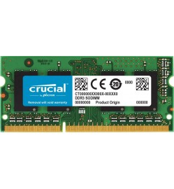 Crucial 16GB DDR3 / DDR3L 1600MHz CL11 1.35V & 1.5V Non-ECC SODIMM, SO-DIMM Notebook Memory CT204864BF160B