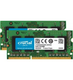 Crucial 16GB Kit (8GBx2) DDR3L 1600 MT/s (PC3L-12800) SODIMM 204-Pin Memory