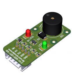 Low Current Consumption LEDs and Buzzer Breakout Board