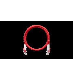 NIKOMAX - Lockable Patch Cord Cat. 6, LSZH, Red, 0.5 Meter