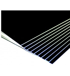A2 SIZE BLACK MOUNTING BOARD 800 GSM
