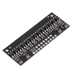 QTR-HD-13RC Reflectance Sensor Array: 13-Channel, 4mm Pitch, RC Output