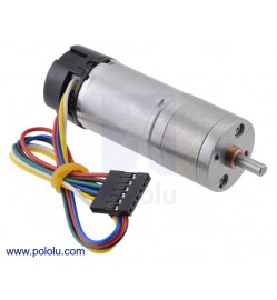 9.7:1 Metal Gearmotor 25Dx63L mm HP 12V with 48 CPR Encoder