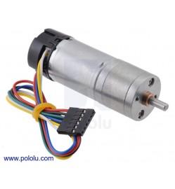 227:1 Metal Gearmotor 25Dx71L mm LP 12V with 48 CPR Encoder