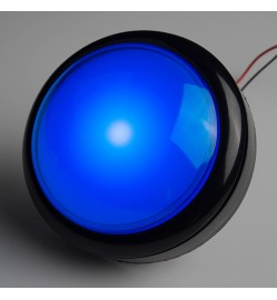 Arcade Game Push Button Switch 100mm - BLUE