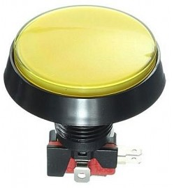 ARCADE BUTTON 60 MM - YELLOW
