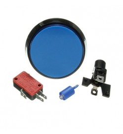 ARCADE BUTTON 60 MM - BLUE