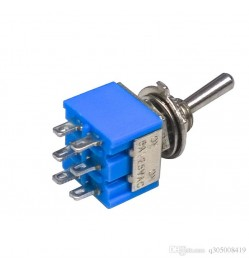 DPDT Toggle Switches 6-Pin On/On 2-Position