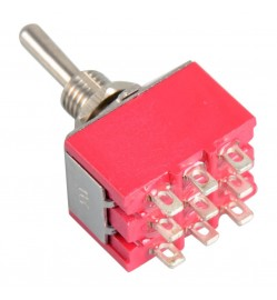 9-Pin Toggle Switch 3PDT ON-ON