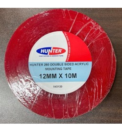 HUNTER DOUBLE SIDED CLEAR ACRYLIC 260 12MM X 10MTR