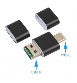 2 in 1 OTG USB2.0 Type C USB-C Card Reader for Micro SD TF Card