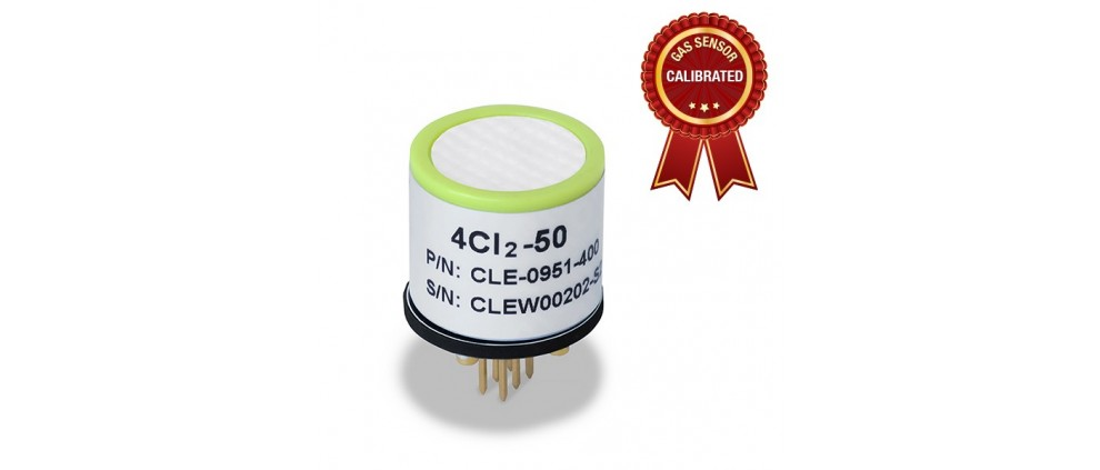 Calibrated Chlorine (Cl2) gas sensor Probe