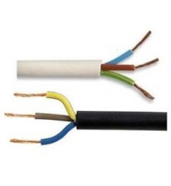 3 Core AC Power Cable - 100Feet - White