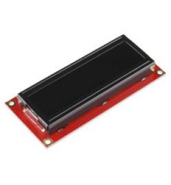 Serial Enabled 16x2 LCD - White on Black 3.3V