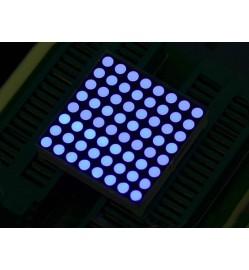 32mm 8x8 Square Matrix LED Blue - Common Anode