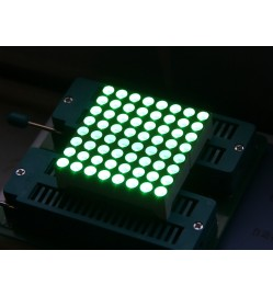 38mm 8x8 square matrix LED - Green Common Anode