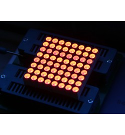 38mm 8x8 square matrix LED - Red Common Anode