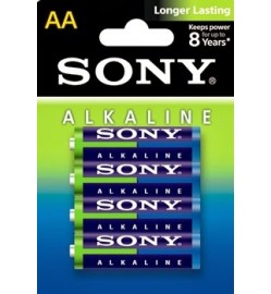 4xAA Sony Alkaline Batteries
