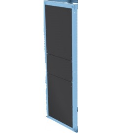 16500mm Open Frame 3 pcs Sided back plane with recessed base