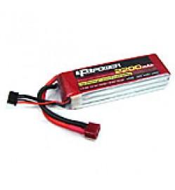 LPB 11.1V 2200mAh LiPo Battery, 3S, 25C, 3 cell, T Plug, 106x34x25mm, 160gm