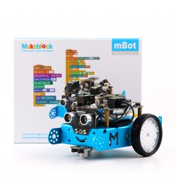 mBot - STEM Educational Robot Kit for Kids Blue/Bluetooth