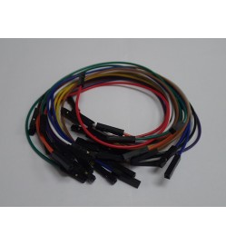 1 pin female-female jumper wire 200mm 20pcs pack