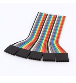 10 Ways Ribbon Cable Female Jumpers - 100cm