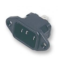 IEC INLET SOCKET SOLDER TAG