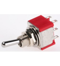 Toggle Switch DPDT On-Off-On, 5 A, Panel Mount