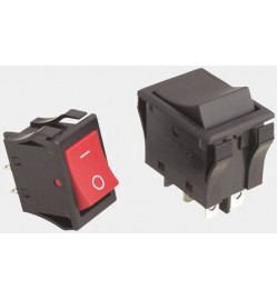 Black DPDT Rocker Switch, On-On, 10 A@ 125/250 V ac +85°C -25°C 24mm 15.4mm