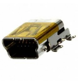 USB - mini B USB 2.0 OTG Receptacle Connector 5 Position Surface Mount, Right Angle, Horizontal