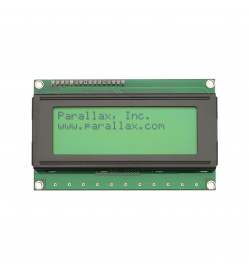 LCD Character Display Modules & Accessories Serial LCD-Parallax 4x20 Backlit