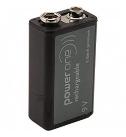 POWER ONE 9V RECHARGEABLE NIMH BATTERY 170mAH