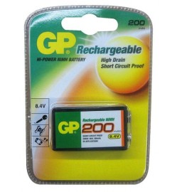 GP 9V Rechargeable Battery 200mAh