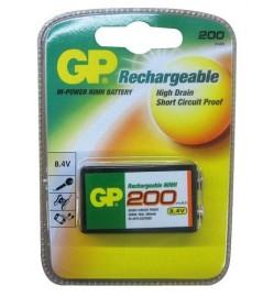 GP 9V Rechargeable Battery 200mAh