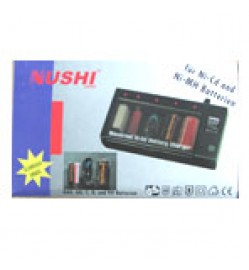 Nushi Multi Charger NiCd-NiMH AA,AAA,9V.