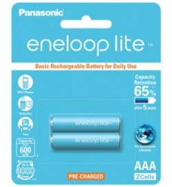 Panasonic Eneloop AAA Rechargeable Battery 600mAh (2pcs)
