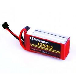 LPB 11.1V 1300mAh LiPo Battery, 3S, 20C, 3 cell, T Plug, 75x34x23mm, 120gm